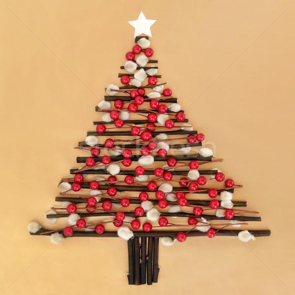 Christmas czasu streszczenie choinka projektu czerwony Zdjęcia stock © marilyna