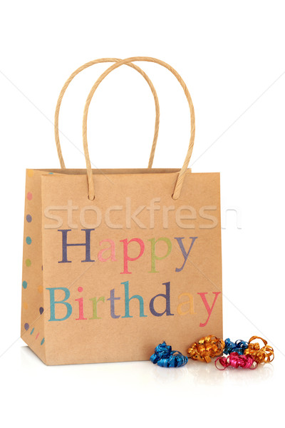 Happy Birthday Gift Bag Stock photo © marilyna
