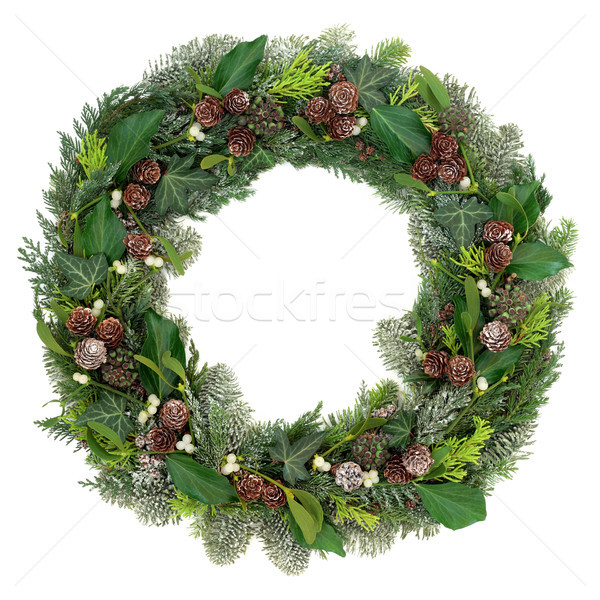 Winter and Christmas Wreath Stock photo © marilyna
