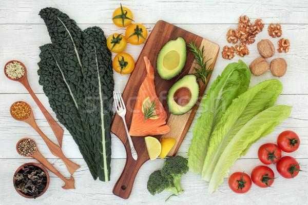 Cerveau alimentaire nutrition santé poissons légumes Photo stock © marilyna