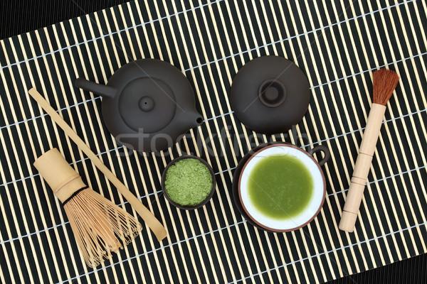 Japonais thé vert poudre boire tasse Photo stock © marilyna