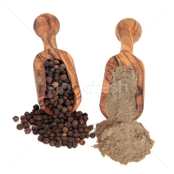перец черный перчинка Spice оливкового Сток-фото © marilyna