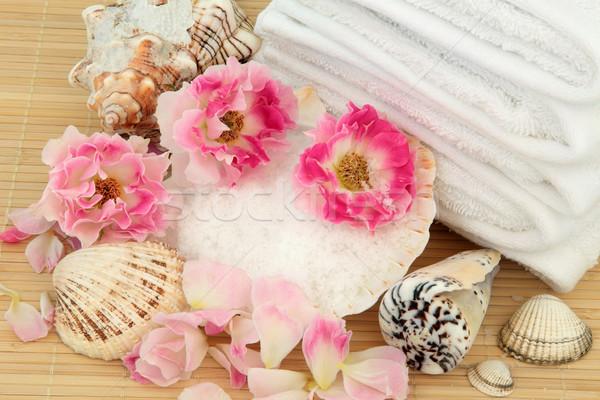 Gül terapi ürünleri çiçek Stok fotoğraf © marilyna