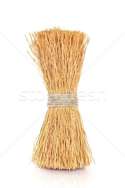 Wok schoonmaken borstel natuurlijke borstel string Stockfoto © marilyna