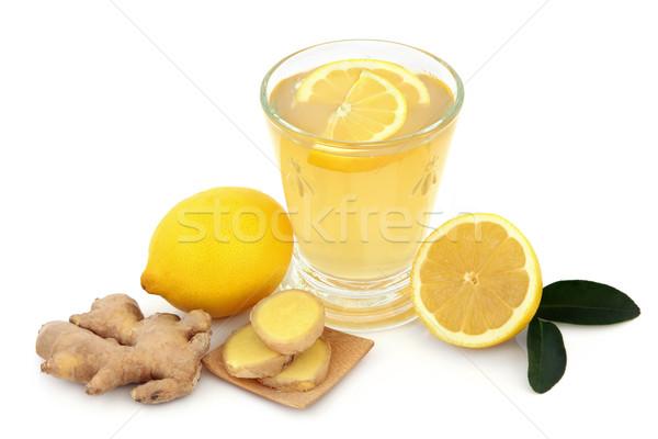 Soğuk çare içmek grip cam taze Stok fotoğraf © marilyna