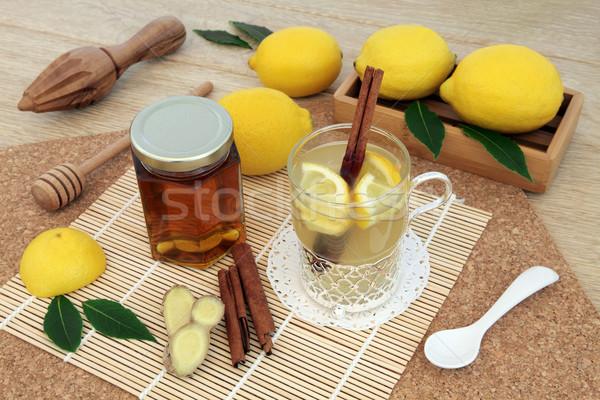 Honey Lemon and Ginger Spice Drink   Stock photo © marilyna