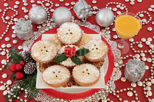 Mince Pies and Egg Nog Stock photo © marilyna