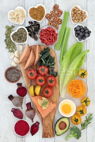 Gıda düşünce sağlıklı beslenme beyin güç Stok fotoğraf © marilyna