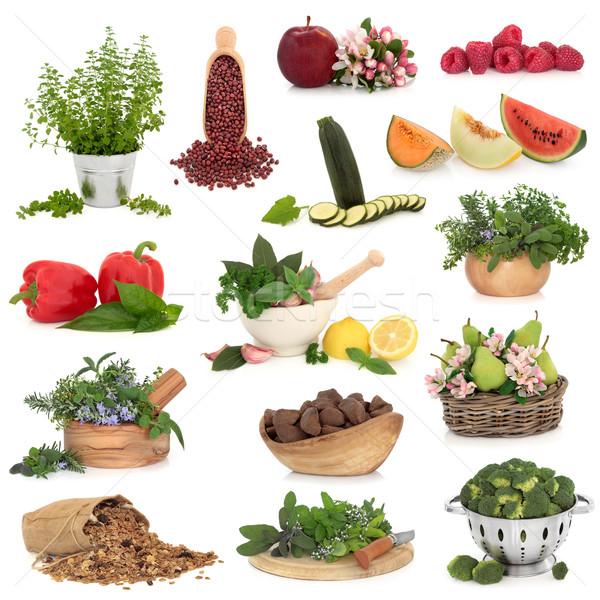 Nagy étel gyűjtemény egészséges étel magas vitaminok Stock fotó © marilyna