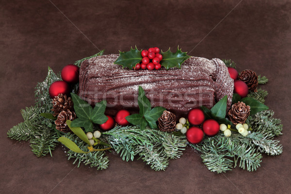 Yuletide Log Stock photo © marilyna