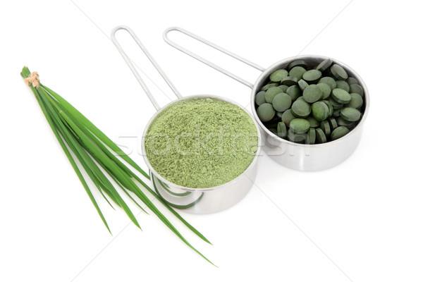 Vie saine blé herbe poudre alimentaire santé Photo stock © marilyna