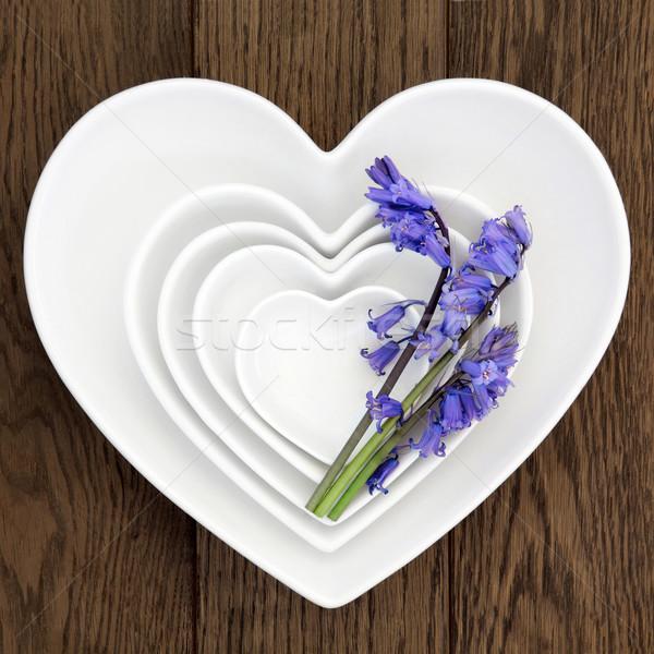 Porselein gerechten hart bloemen oude Stockfoto © marilyna
