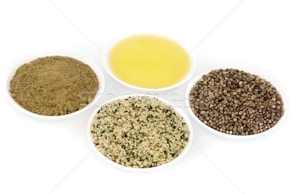 Hemp Food Ingredients Stock photo © marilyna