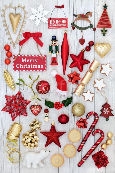 Simboli Natale gingillo decorazioni vischio torte Foto d'archivio © marilyna