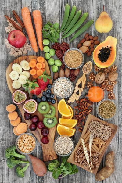 Egészség étel magas rost diéta gyümölcs Stock fotó © marilyna