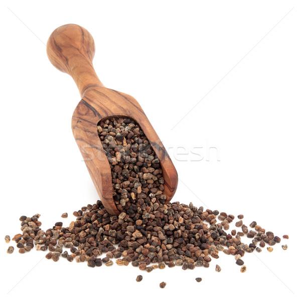 Cilantro semillas de oliva madera cuchara blanco Foto stock © marilyna