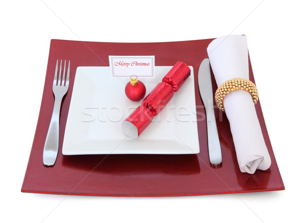 Christmas Place Setting Stock photo © marilyna