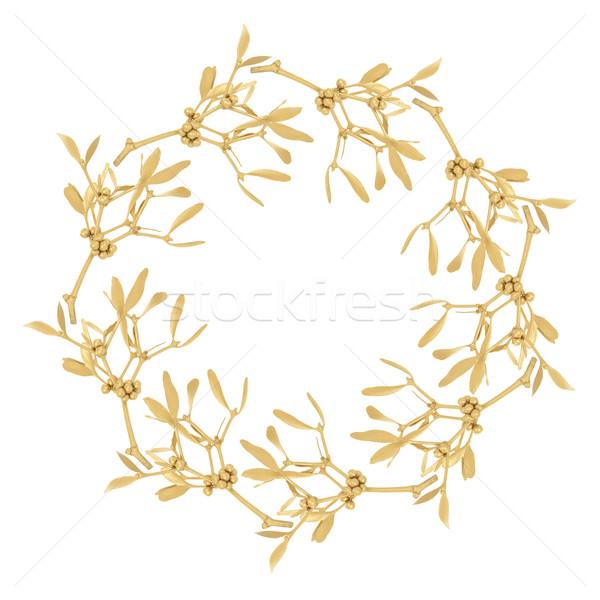 Golden Mistletoe Garland Stock photo © marilyna