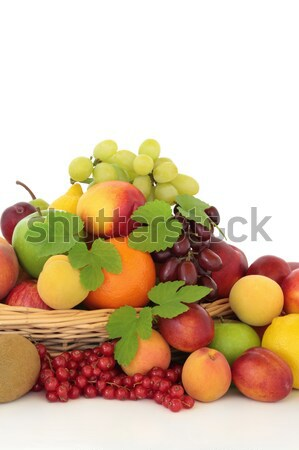 Tropische citrus bessen bes tropische vruchten mand Stockfoto © marilyna