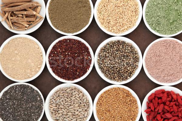 Super gezondheid voedsel porselein Stockfoto © marilyna