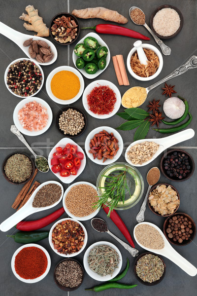 Spice and Herb Food Seasoning Stock photo © marilyna
