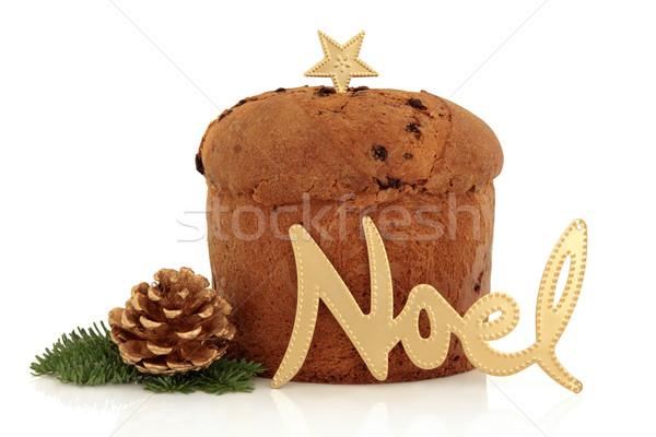 Natale torta oro segno star decorato Foto d'archivio © marilyna