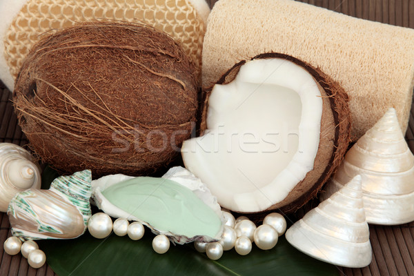 Coconut Spa Products Stock photo © marilyna