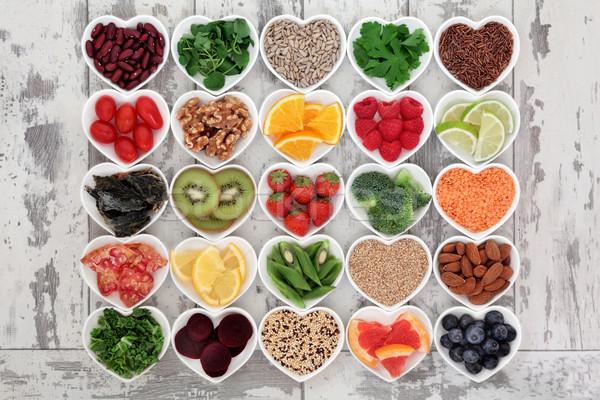 Diyet gıda süper kalp Stok fotoğraf © marilyna