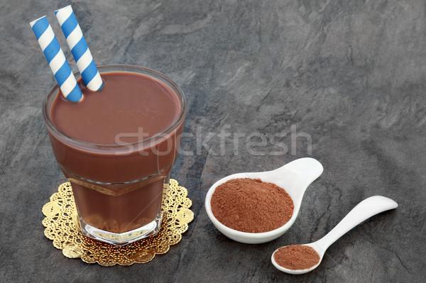 Stock fotó: Csokoládé · fehérje · por · ital · üveg · kiegészítő