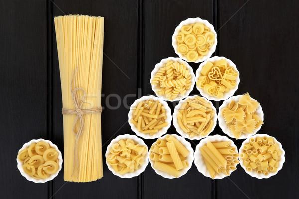 Spaghetti pasta essiccati alimentare porcellana Foto d'archivio © marilyna