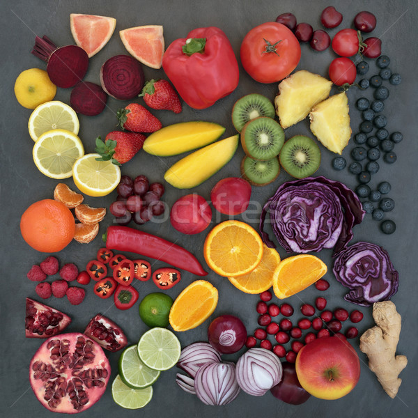 Fresh Fruit and Vegetables Stock photo © marilyna