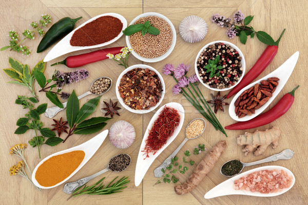 Healthy Herb and Spice Collection Stock photo © marilyna