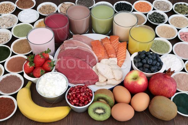 Gezondheid voedsel dranken hoog eiwit Stockfoto © marilyna