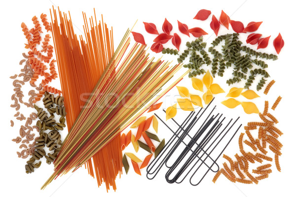 Stock photo: Abstract Spaghetti Pasta Background