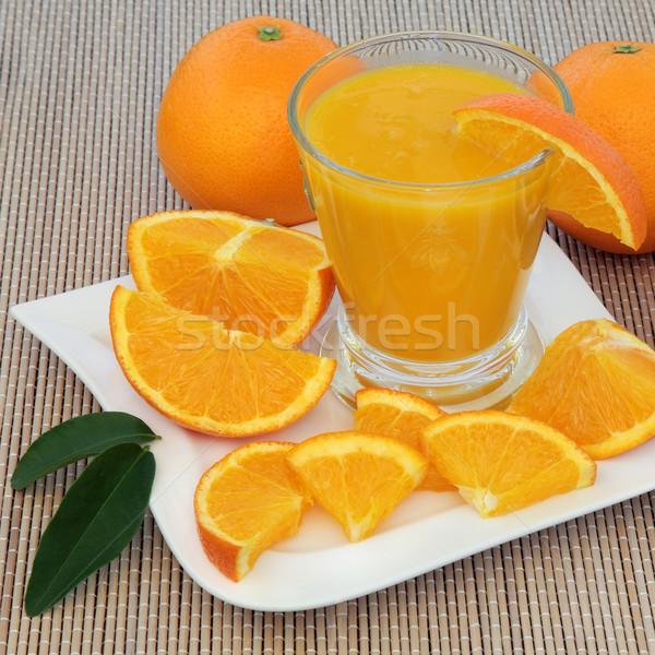Gezonde oranje drinken vers sinaasappelen hoog Stockfoto © marilyna