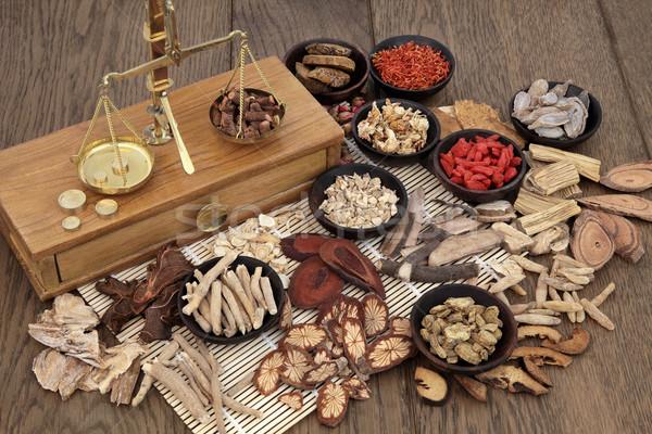 Traditionnel phytothérapie chinois herbe ingrédients utilisé Photo stock © marilyna
