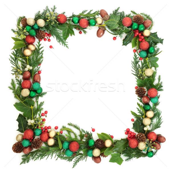 Festive Christmas Wreath Stock photo © marilyna