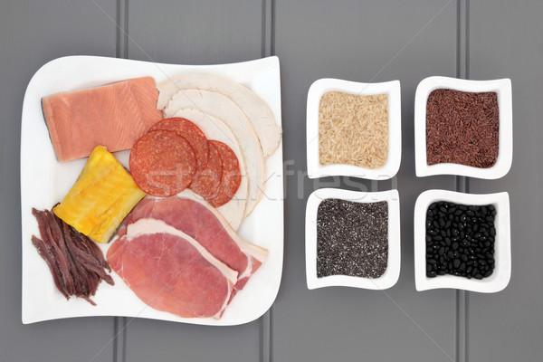 Alto proteína alimentos salud dieta carne Foto stock © marilyna
