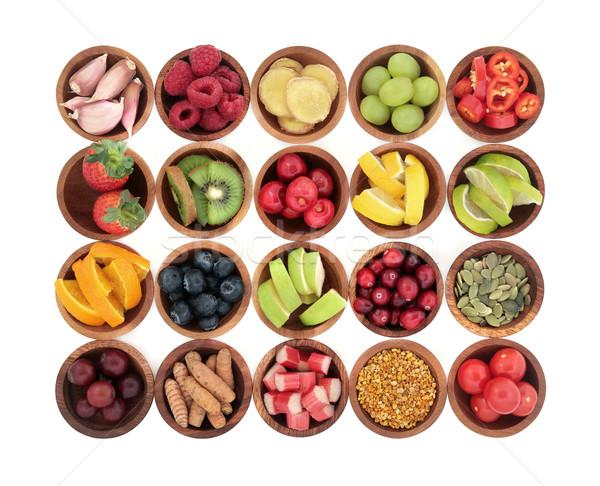Gezondheid voedsel koud remedie super griep Stockfoto © marilyna