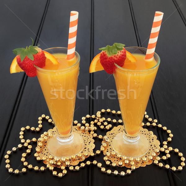 Narancs eper gyümölcslé narancs dzsúz ital Stock fotó © marilyna