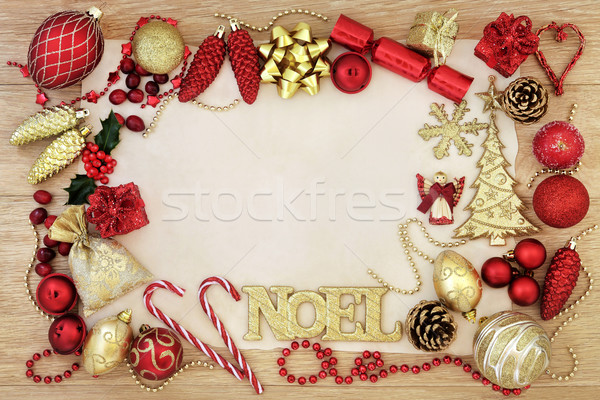 Christmas Noel Abstract Border Stock photo © marilyna