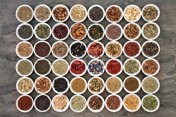 Large Herb Tea Sampler Stock photo © marilyna