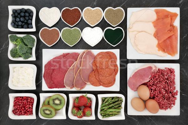Santé alimentaire viande poissons Photo stock © marilyna