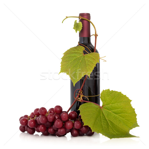 Red Wine and Grape Vine Stock photo © marilyna