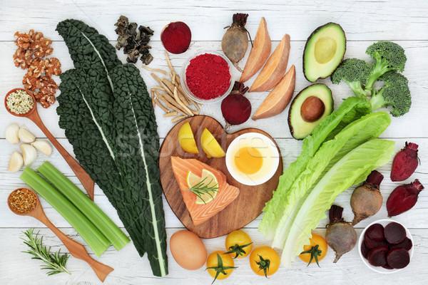 Hersenen super voedsel vis groenten zaden Stockfoto © marilyna