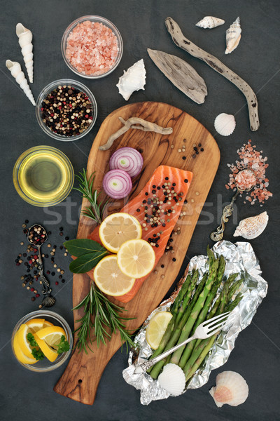 Healthy Heart Food with Salmon Stock photo © marilyna