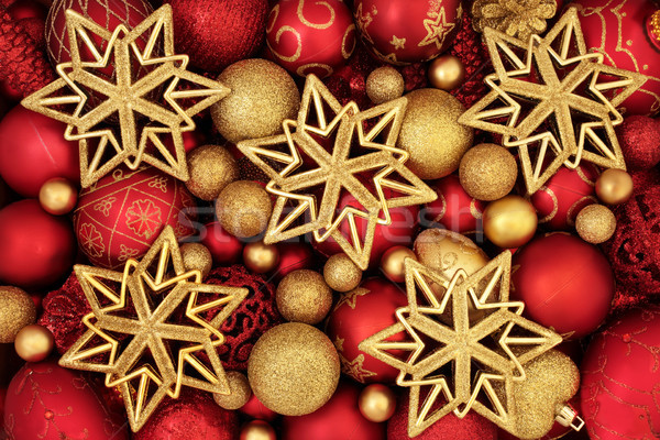 Christmas Bauble and Star Decorations Stock photo © marilyna