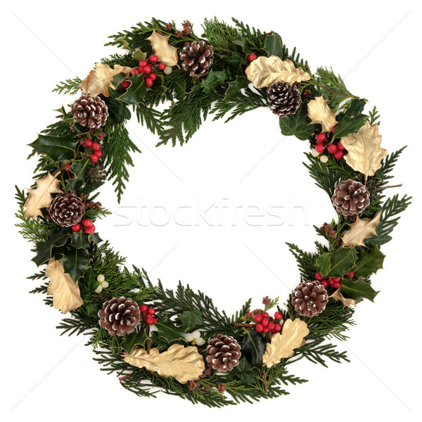 Decorative Christmas Wreath Stock photo © marilyna