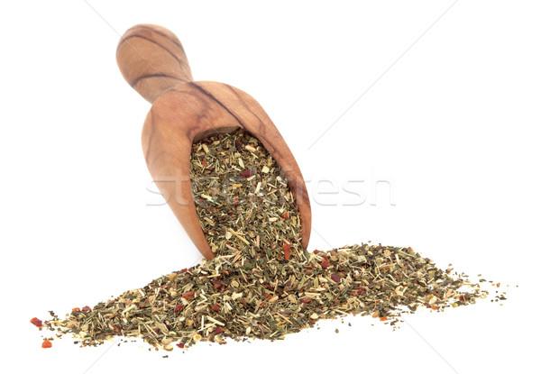 женьшень трава чай цветок листьев оливкового Сток-фото © marilyna