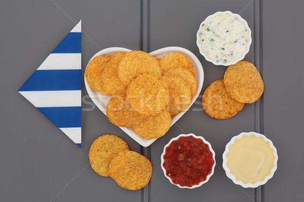 Tortilla chips porselein kommen voedsel Stockfoto © marilyna